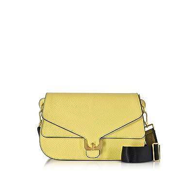 Coccinelle Women's E1BM0120301021AZUR Yellow Leather Shoulder Bag