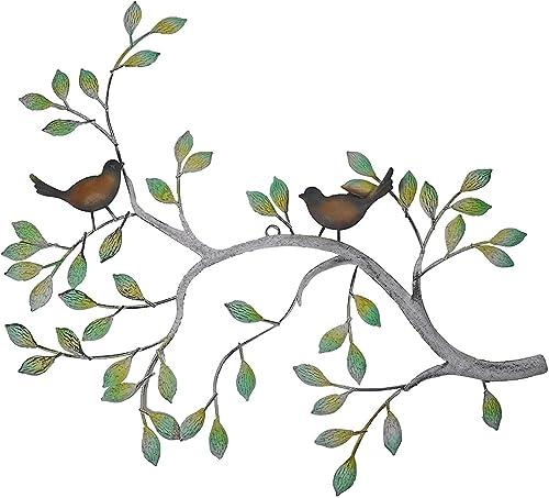 24 in Branches w Birds Decorative Metal Wall Decor Sculpture Kitchen Home Indoor