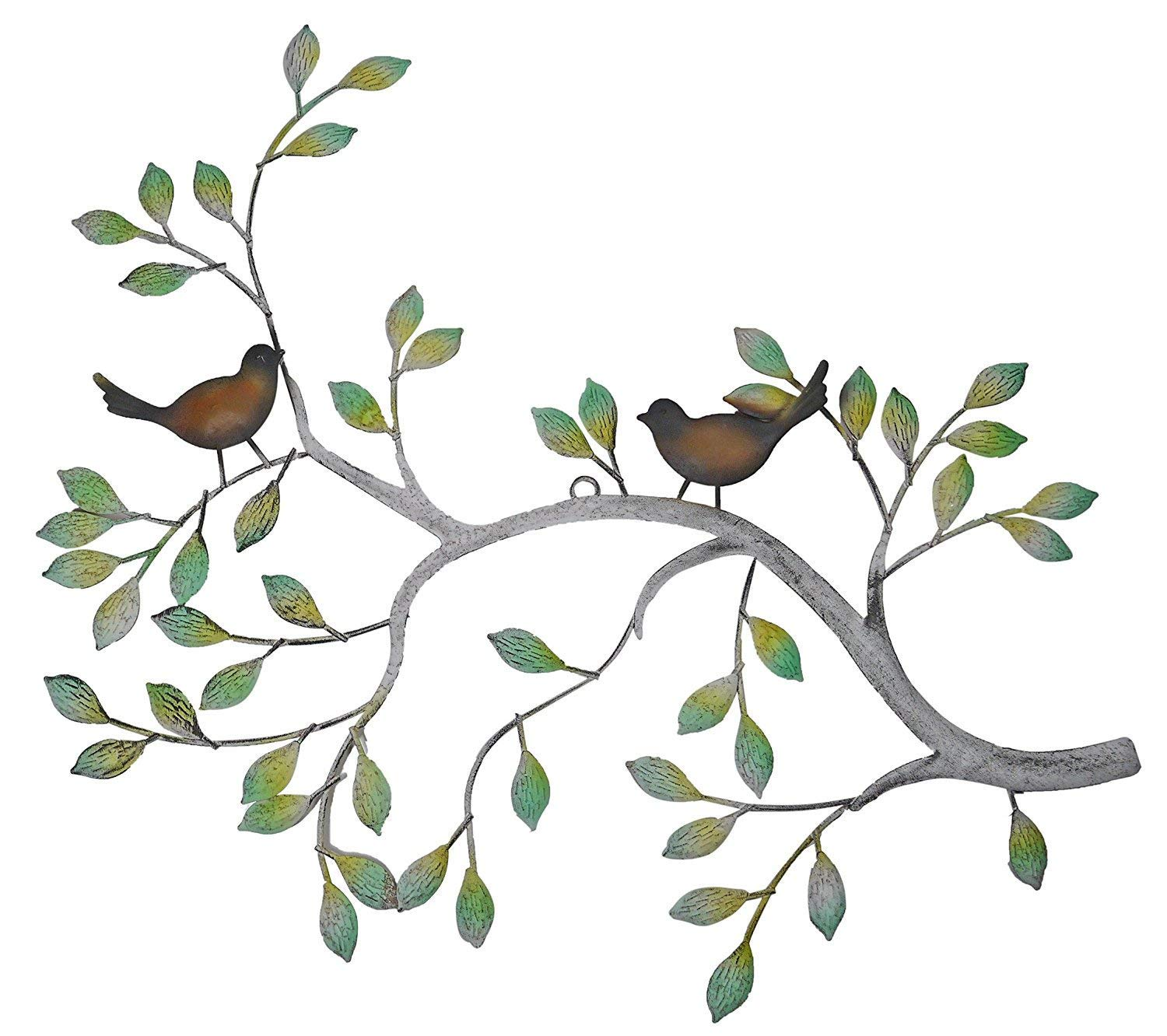 24 in Branches w/Birds Decorative Metal Wall Decor Sculpture Kitchen Home Indoor by PSW - Wall Decor