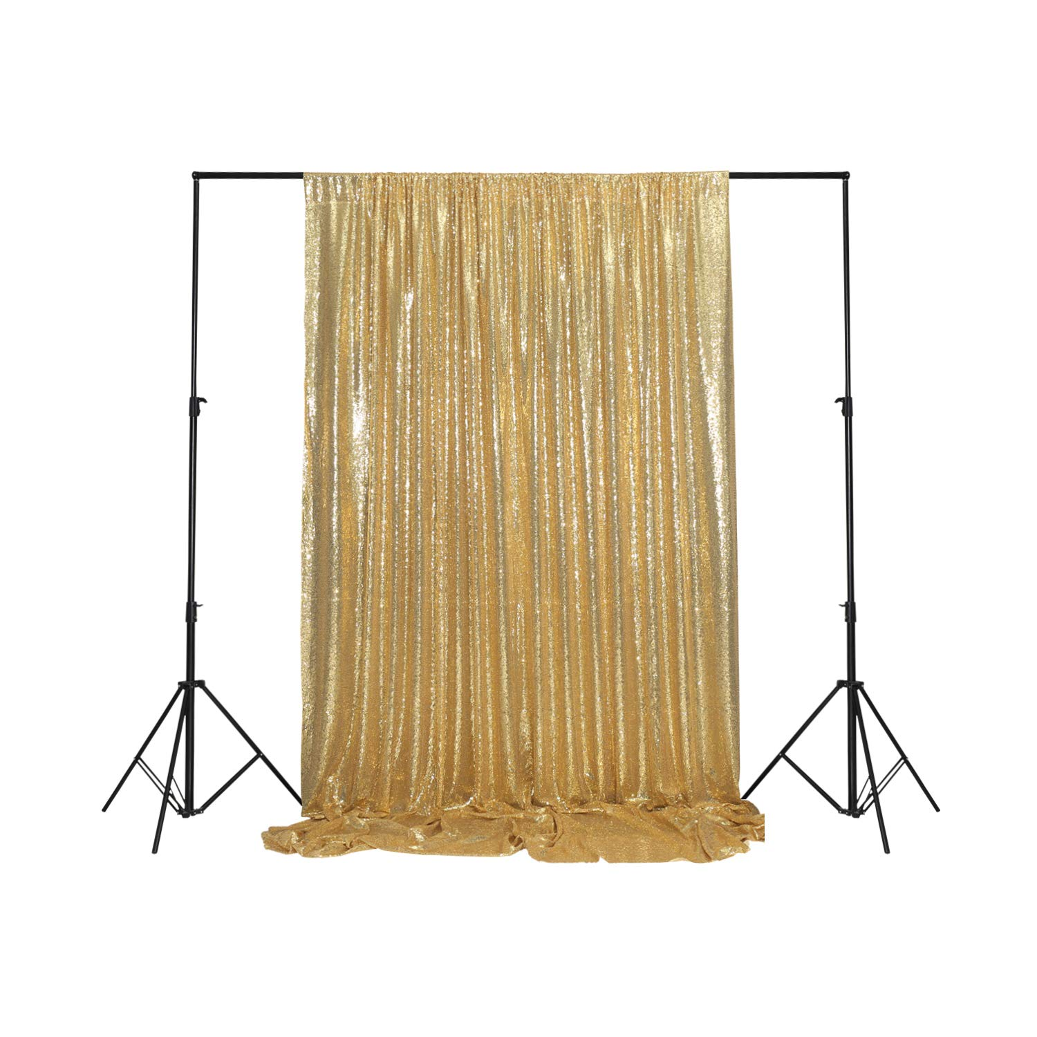 Sparkly Gold PartyDelight Sequin Backdrop, Photography, Christmas Backdrop, 20Ft x 10Ft by PartyDelight