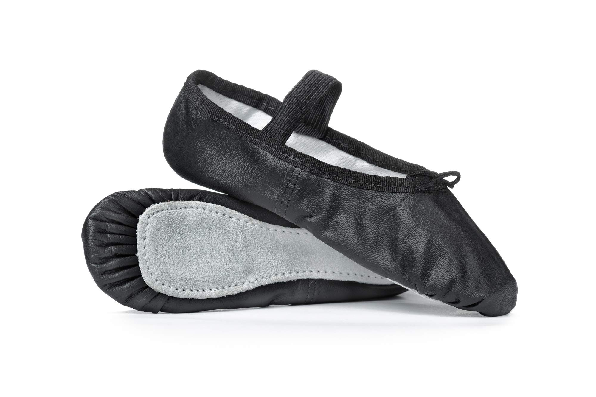 Child Economy Leather Full Sole Ballet Shoes T1000CBLK10.5M Black 10.5 M US Little Kid by Theatricals