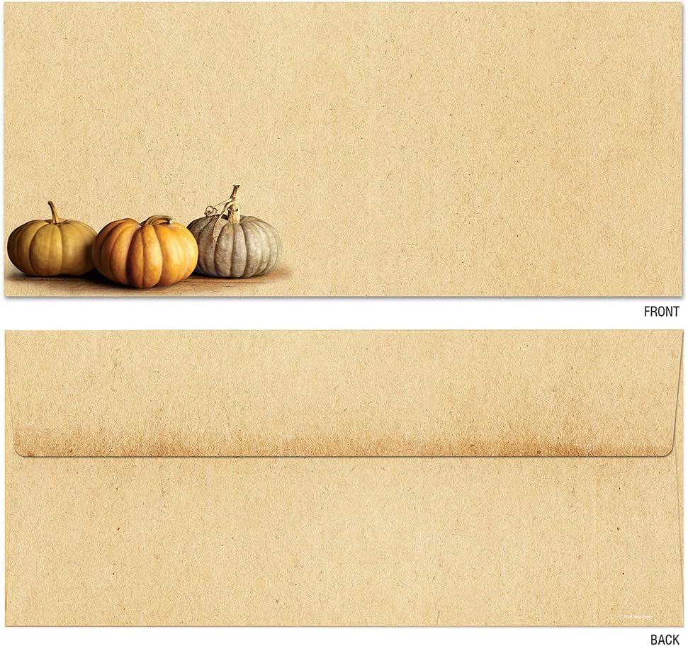 Great Papers 25 Count 2019093 4.125 x 9.5 Fall Pumpkins #10 Envelope