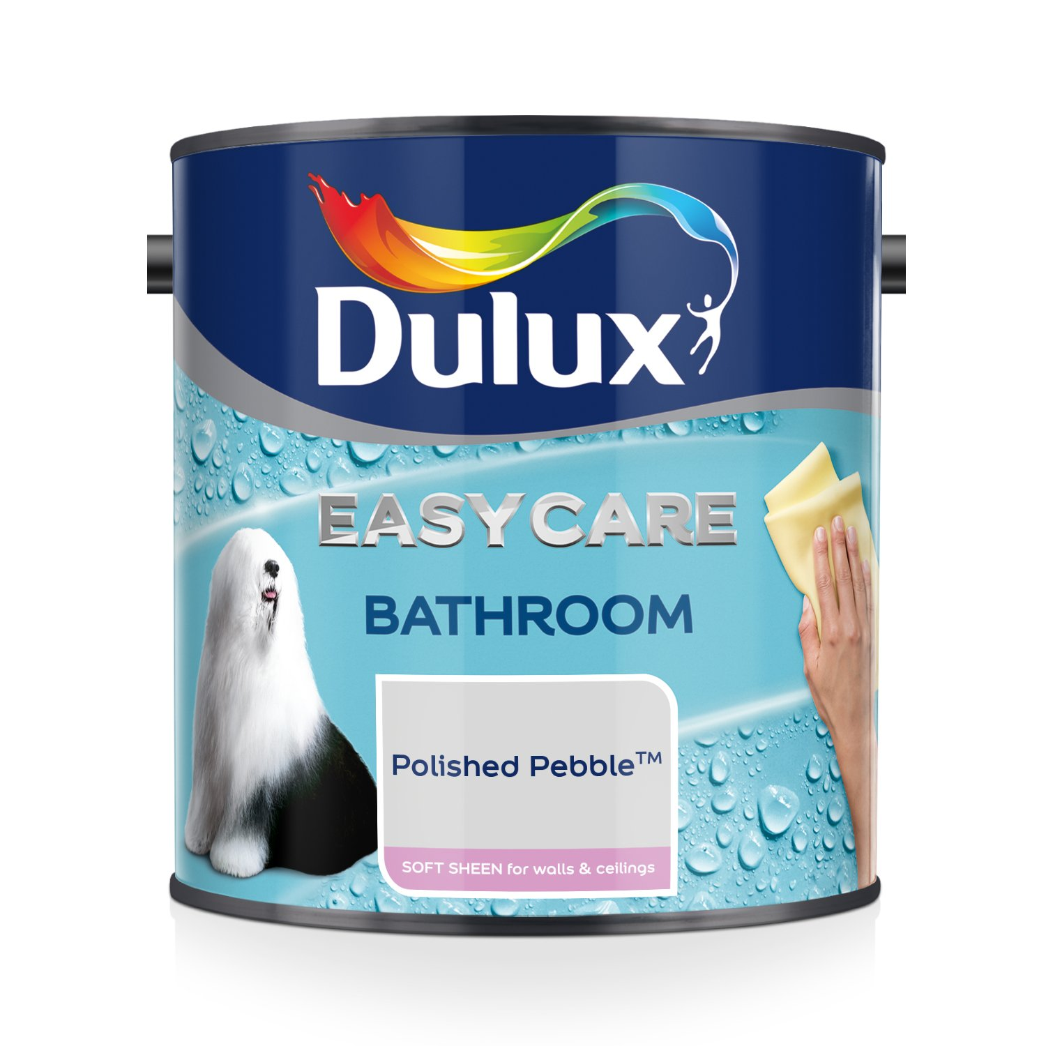 Dulux Easycare Bathroom Soft Sheen Paint - Ivory Lace 2.5L AkzoNobel 5275839