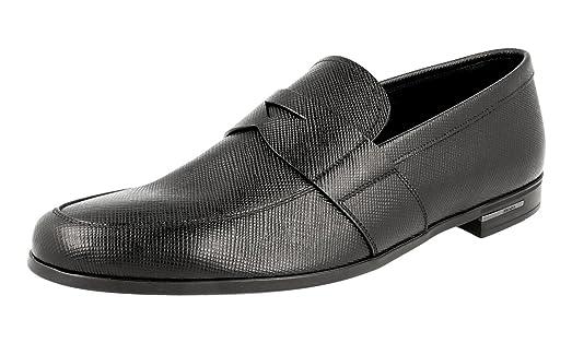 Men's 2DE072 Saffiano Leather Business Shoes