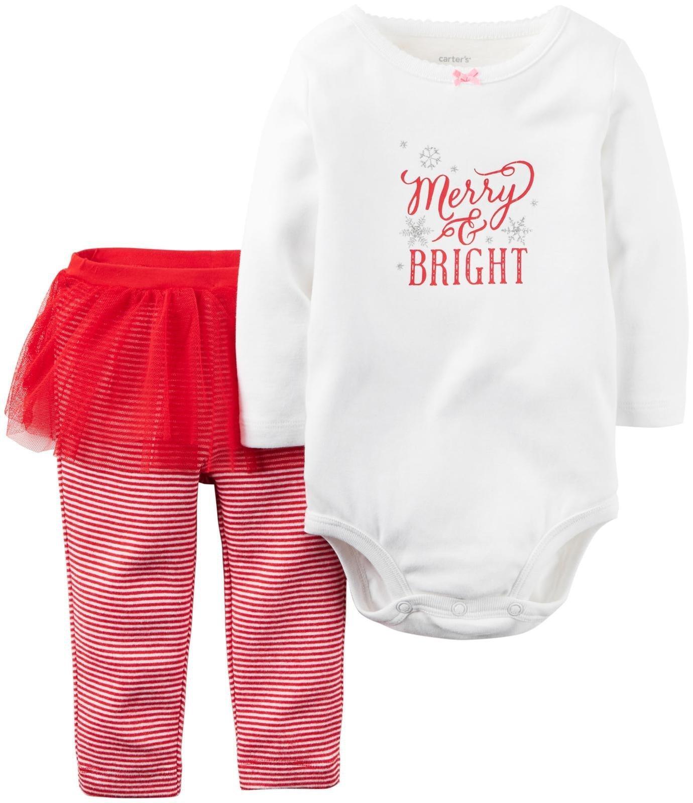 Amazon.com: Carter\'s Little Girls\' Christmas 2-piece Cotton Pjs with ...