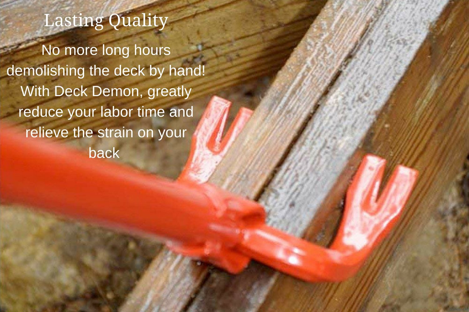 """Wrecking // Demolition Tool Heavy-Duty Steel Pallet Breaker and Deck // Roof // Strapping Remover Angel Guard Deck Demon Dual-Claw Head for Easy Removal DD-201 Extra-Long 44/"""" Cushion-Grip Handle"""