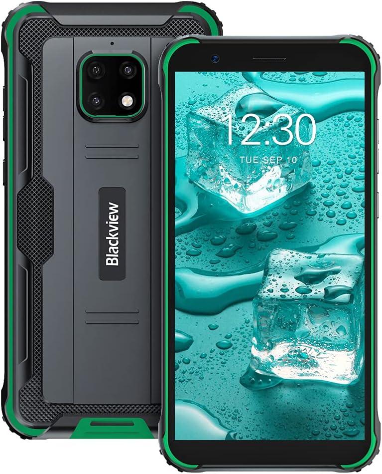 Móvil Resistente, Blackview BV4900 Pro Android 10 Movil Antigolpes 4GB+64GB 2.0GHz MediaTek Helio P22 Octa-Core Procesador, con Batería 5580mAh y 5.7´´ HD+ Pantalla, Cámara Triple 13MP, IP68/NFC/FM
