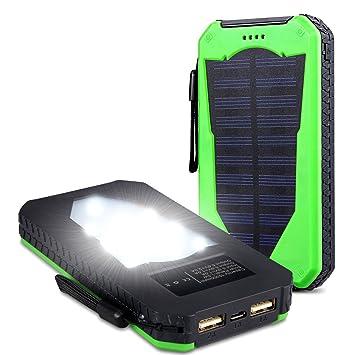 15000 Mah Solar corriente Cargador Dual Usb puertos Cargador Solar Portátil panel solar Back Up Teléfono Móvil Cargador para iphone5se 5S 6 6S Plus, ...