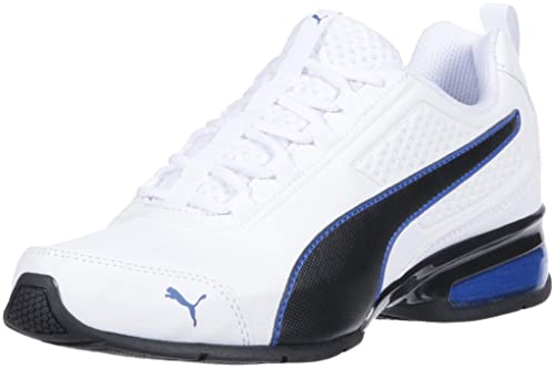 PUMA Mens Leader VT Fresh Sneaker, White-Turkish sea, ...