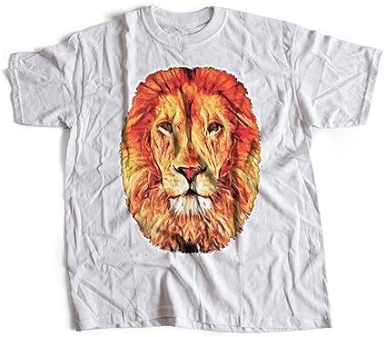 9f555e8e7d24e5 A001-060w Leo Herren T-Shirt Lion Abstract Art Hipster Fashion King Rasta   Amazon.de  Bekleidung