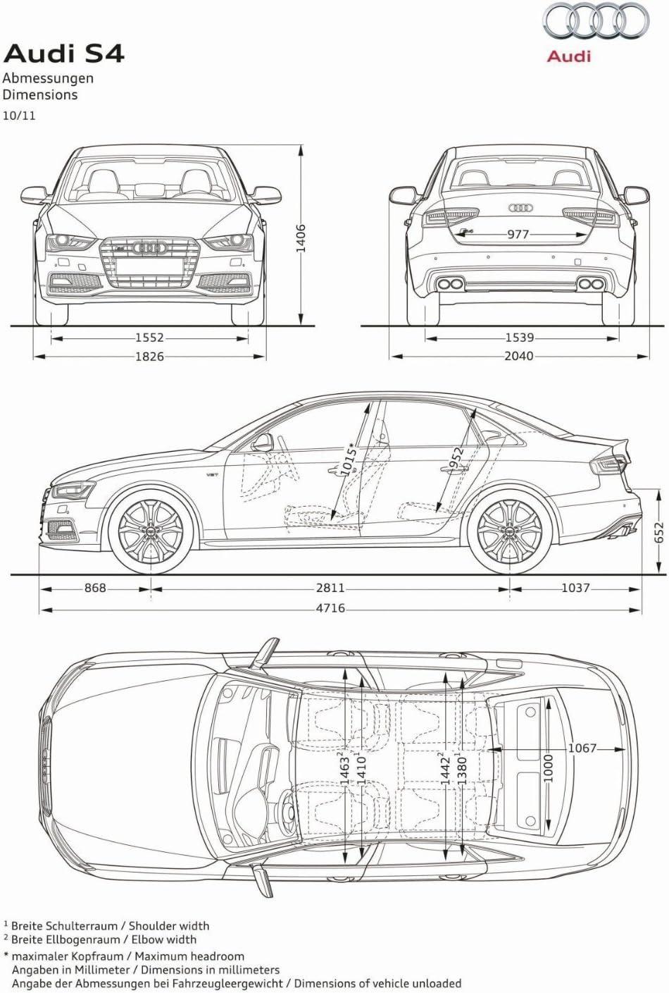 CHOOSE COLOUR SIZE A4 AUDI QUATTRO CAR ART PRINT PICTURE ADD REG DETAILS