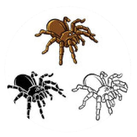 alfombrilla de ratón libro para colorear dibujos animados Tarantula - ronda - 20cm