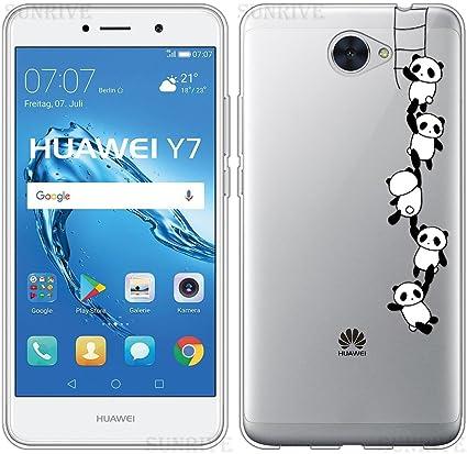 Sunrive Cover per Huawei Nova Lite / Nova Lite Plus 5,5 Pollici, Custodia Case in Molle Trasparente TPU Silicone Morbida Flessibile Pelle AntiGraffio ...