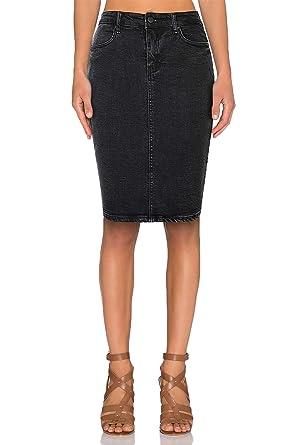 e7a4c4c486 TAIPOVE Women Jean Skirt Denim Pencil Skirt Knee Length Slim Fit Skinny Skirt  Tight Skirt Black