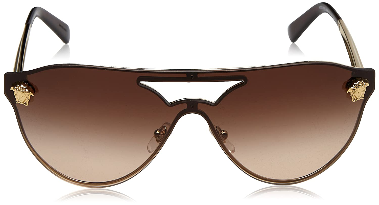 cab215e5ec171 Amazon.com  Versace Womens Sunglasses Gold Brown Metal - Non-Polarized -  40mm  Versace  Clothing