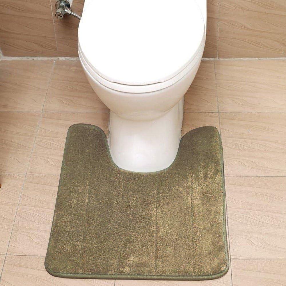 40 x 60cm U ad Alta Densit/à Forma WC bagno Antiscivolo piedistallo Tappeto Tappetino Grigio