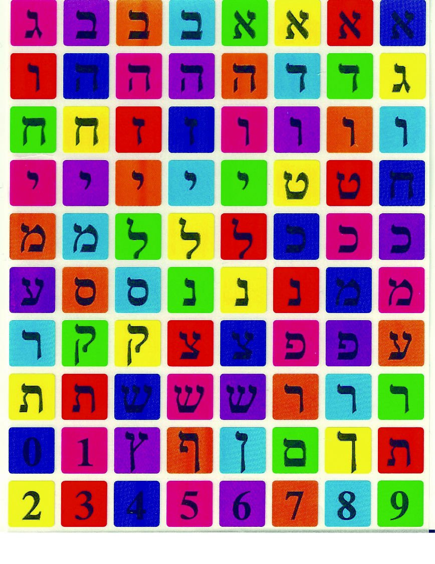 Collecting Trends Judaica Hebrew Letters Alef Bet 800 Stickers Children Teaching Aid Israel