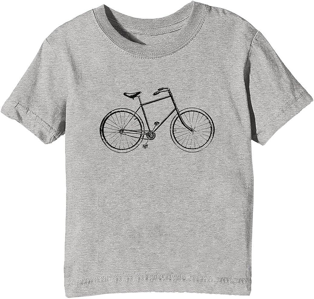 Retro Vieja Escuela Bicicleta Niños Unisexo Niño Niña Camiseta ...