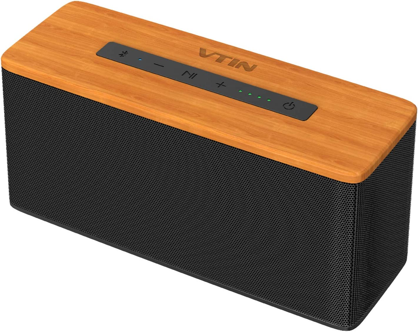 VTIN Soundhot B2 Bluetooth Speakers, 30W Loud Wood Home/Outdoor Wireless Speaker, Super Bass Stereo Sound, 66 Ft Bluetooth V5.0 and 6600mAh Large Capacity Battery,24H Playtime,TWS Connection.