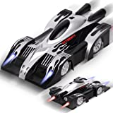 Remote Control Car, Kids Toys Gifts for Girl and Boy, Gravity Defying RC Wall Climbing Car, Rolytoy 360° Rotating Stunt LED Lights Mini Racer Cars Vehicle