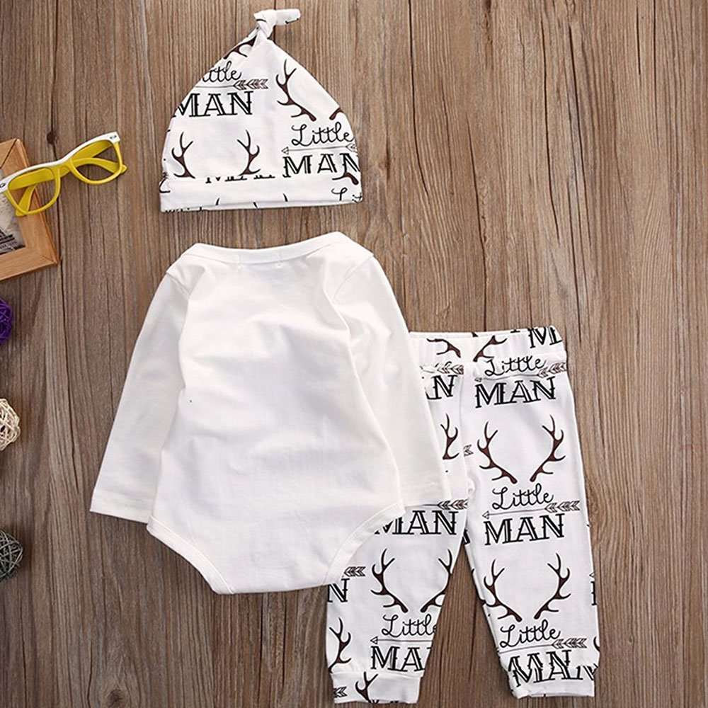 Amazon.com: Baby Boy Girl Suit for Baby Shower Deer Print ...