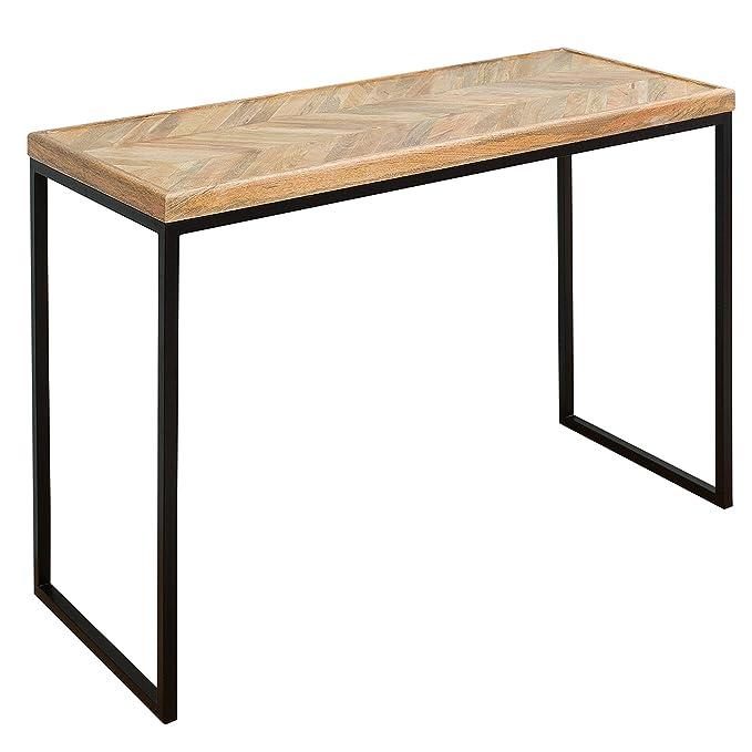 Massiver Konsolentisch FUSION 102cm Mangoholz Eckig Natur Massivholz  Konsole Tisch Schminktisch: Amazon.de: Küche U0026 Haushalt