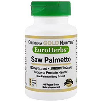 California Gold Nutrition, Saw Palmetto Extract, EuroHerbs, Supports Prostate Health, 320 mg
