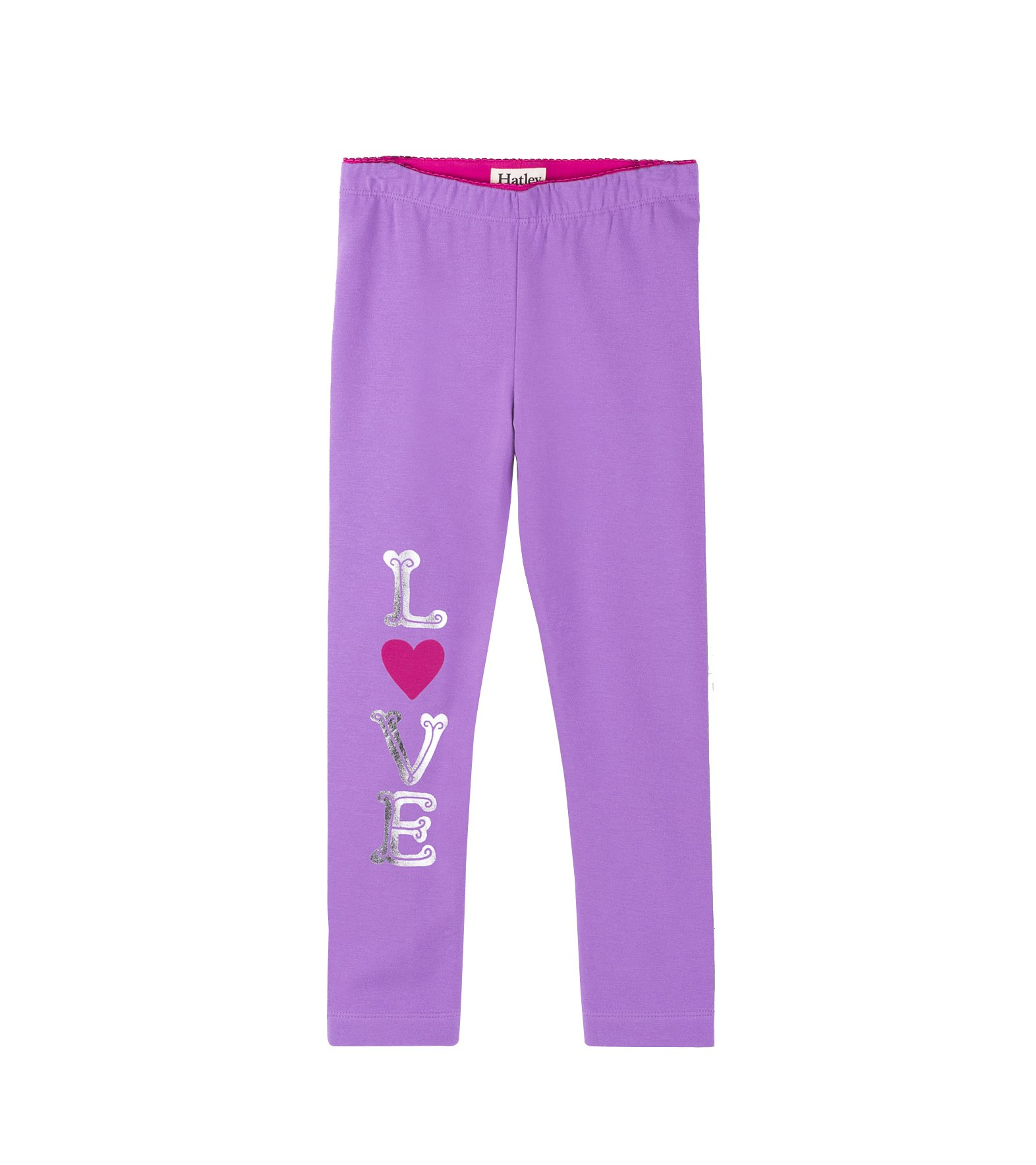 Hatley Big Girls' Leggings, Lavender, 7 Years