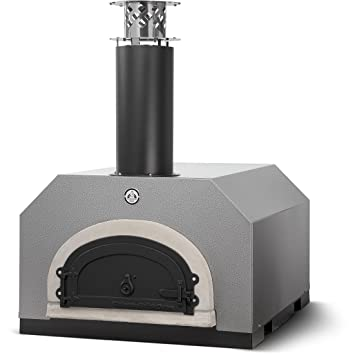 Chicago ladrillo horno cbo-750 encimera horno de leña para pizzas, color plateado