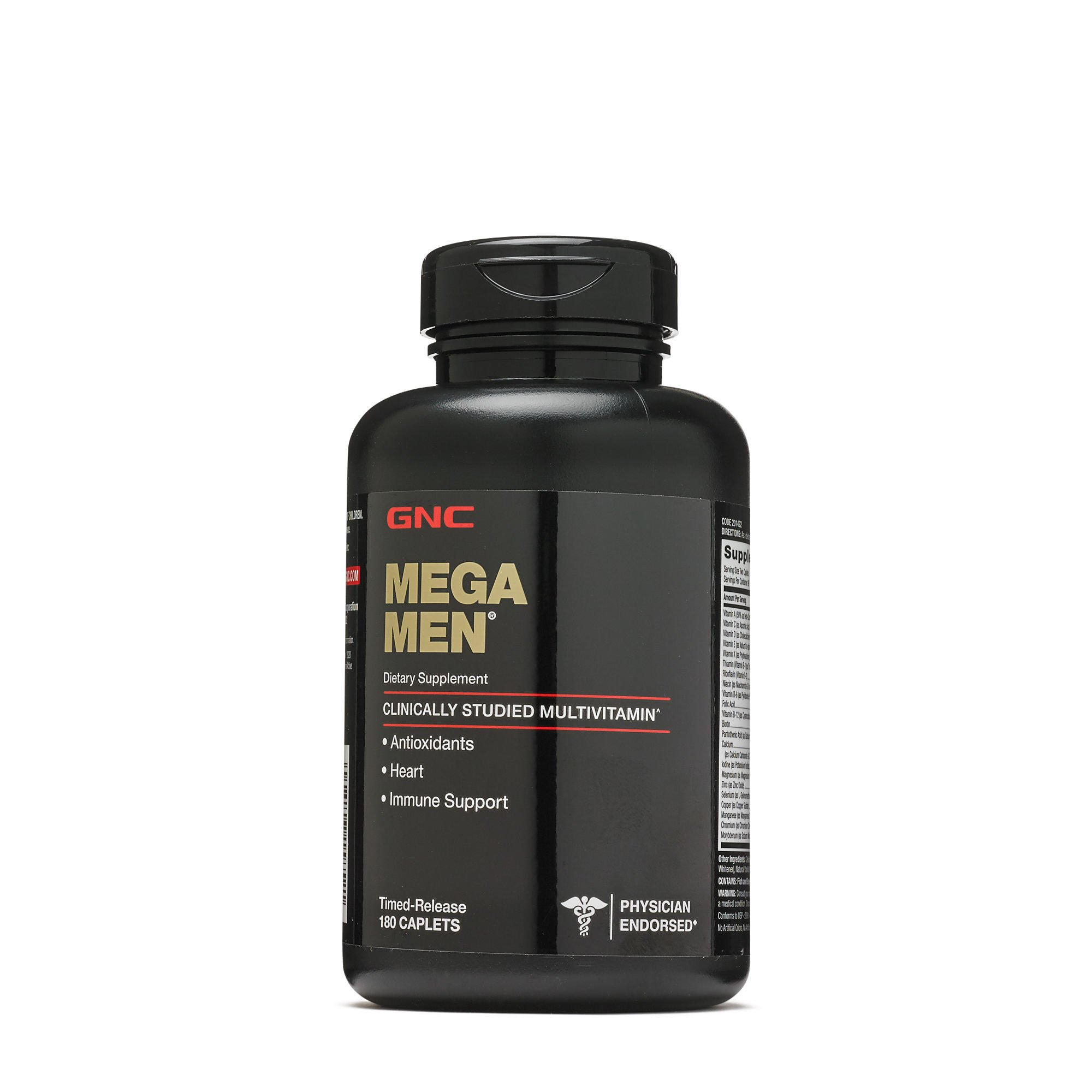 GNC Mega Men Multivitamin 180 Caplets
