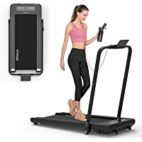BiFanuo 2 in 1 Folding Treadmill, Smart Walking Running Machine with Bluetooth Audio Speakers, Installation-Free,Under…
