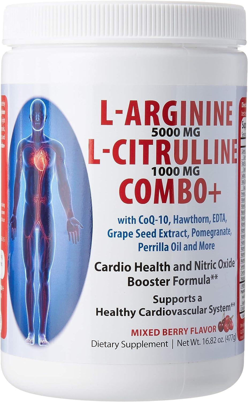 L Arginine L Citrulline Combo Mixed Berry Flavor 16.82 Ounce Powder