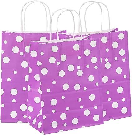 8x4.75x10  50 Pcs  White Kraft Paper Bags Shopping Mechandise Party Gift Bags