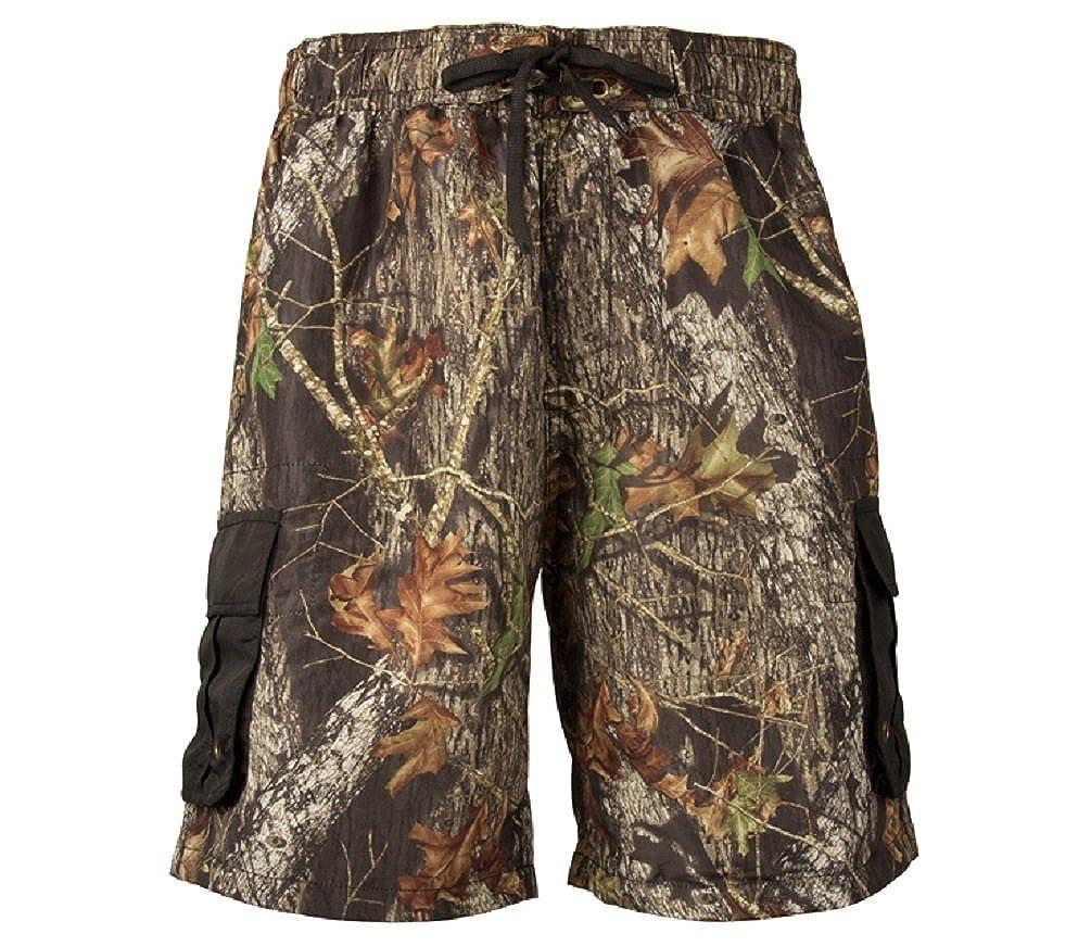 501f82b29a573 Mossy Oak Break Up Cargo Board Shorts Mens Camouflage Swim Trunks |  Amazon.com