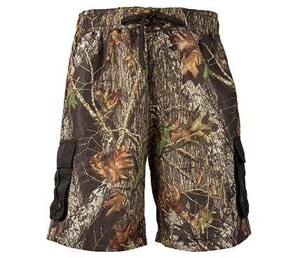 e41d1ecc33 Mossy Oak Break Up Cargo Board Shorts Mens Camouflage Swim Trunks (Small)