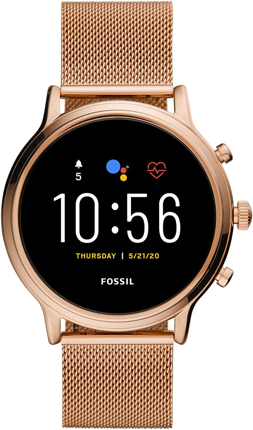 Fossil Smartwatch Pantalla táctil para Mujer de Connected con Correa en Malla de Acero Inoxidable FTW6062