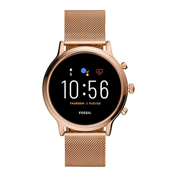 Smartwatch Fossil Julianna HR Gen 5 Rose Gold Mesh FTW6062: Amazon ...
