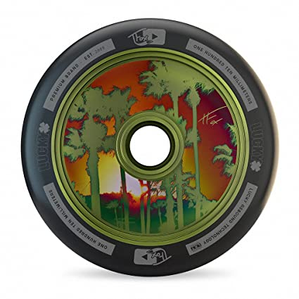 Lucky TFox Signature Hollow Core Scooter Wheel (1-Count), Guac Green,