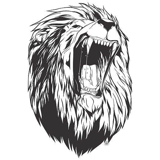 León Cabeza Pared Vinilo Pegatina Roar Animal Rey Cara Ventana ...