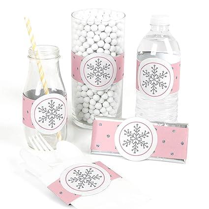 Amazon.com Big Dot of Happiness Pink Winter Wonderland