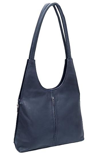 142e6f0913513 DEVRAKH Damen Tasche Ledertasche echt Nappa Leder Handtasche Umhängetasche  Shopper Schultertasche Frauen Taschen Handtaschen Beuteltasche mittelgroß