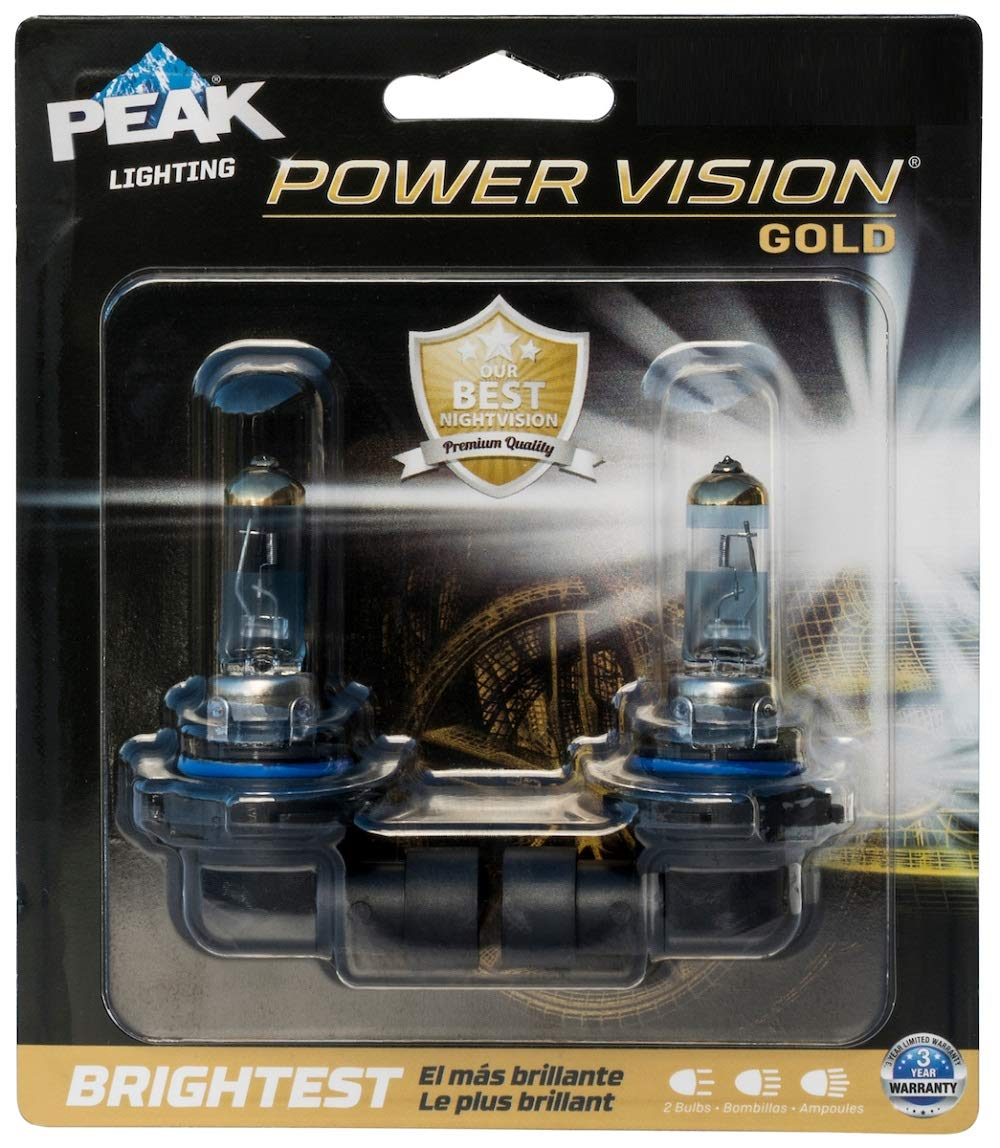 PEAK Power Vision Gold Automotive Performance Headlamp 9145 H10 2 Pack