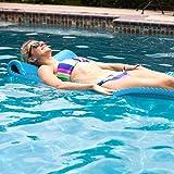 "Texas Recreation Serenity 1.5"" Thick Swimming Pool Foam Pool Floating Mattress, Marina Blue"