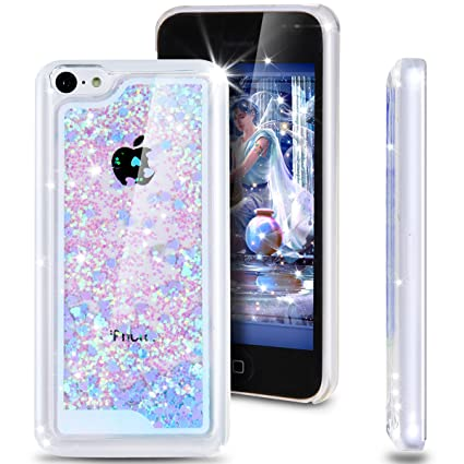 online store 931c0 37367 iPhone 5C Case, ikasus iPhone 5C [Bling Case], [Glitter Case] for iPhone  5C,Fashion Creative Design Flowing Glitter Floating Luxury Bling Glitter ...