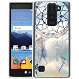 LG K8 V Case, LG K8V Case, Linkertech Air Hybrid Ultra Slim Shockproof Drop Protection Bumper Case Back Cover for LG K8 V (2016) VS500 (Verizon) (Wind Chime)