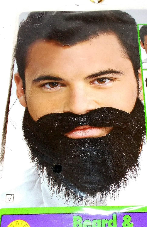 Amazon.com: Black Messy Moustache Beard Set Mustache Adult OSFM 14+:  Clothing