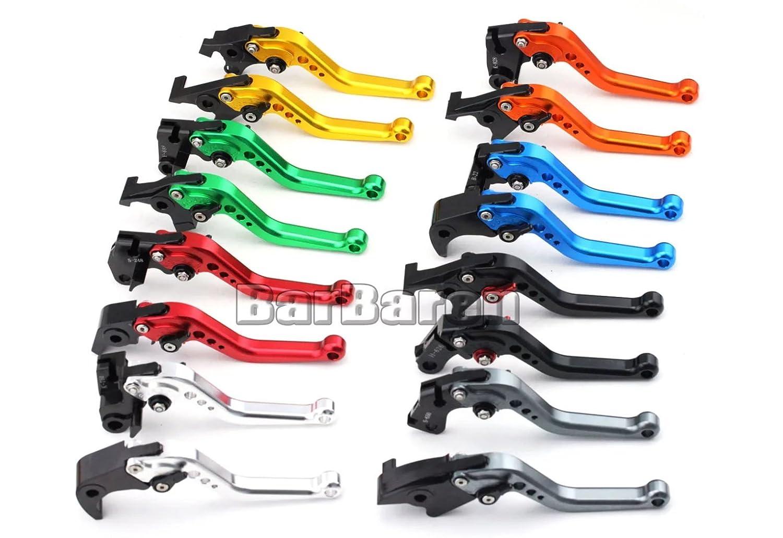 Moto Set lungo leve freno e frizione per Kawasaki ZX-12R 00-05 ZX-10R 04-05 ZX-9R 00-03 ZX6R//ZX636R//ZX6RR 00-04 Z1000 03-06 Versys 1000 12-14 ZZ-R600 05-09