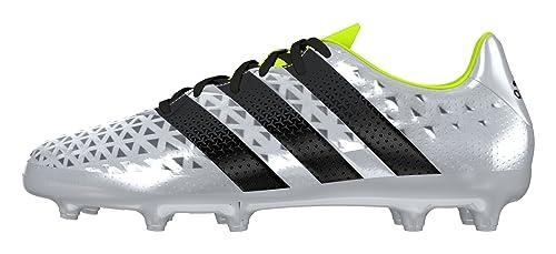 check out a18a6 b721d adidas Ace 16.3 FG J, Chaussures de Foot garçon, Plata (PlametNegbas