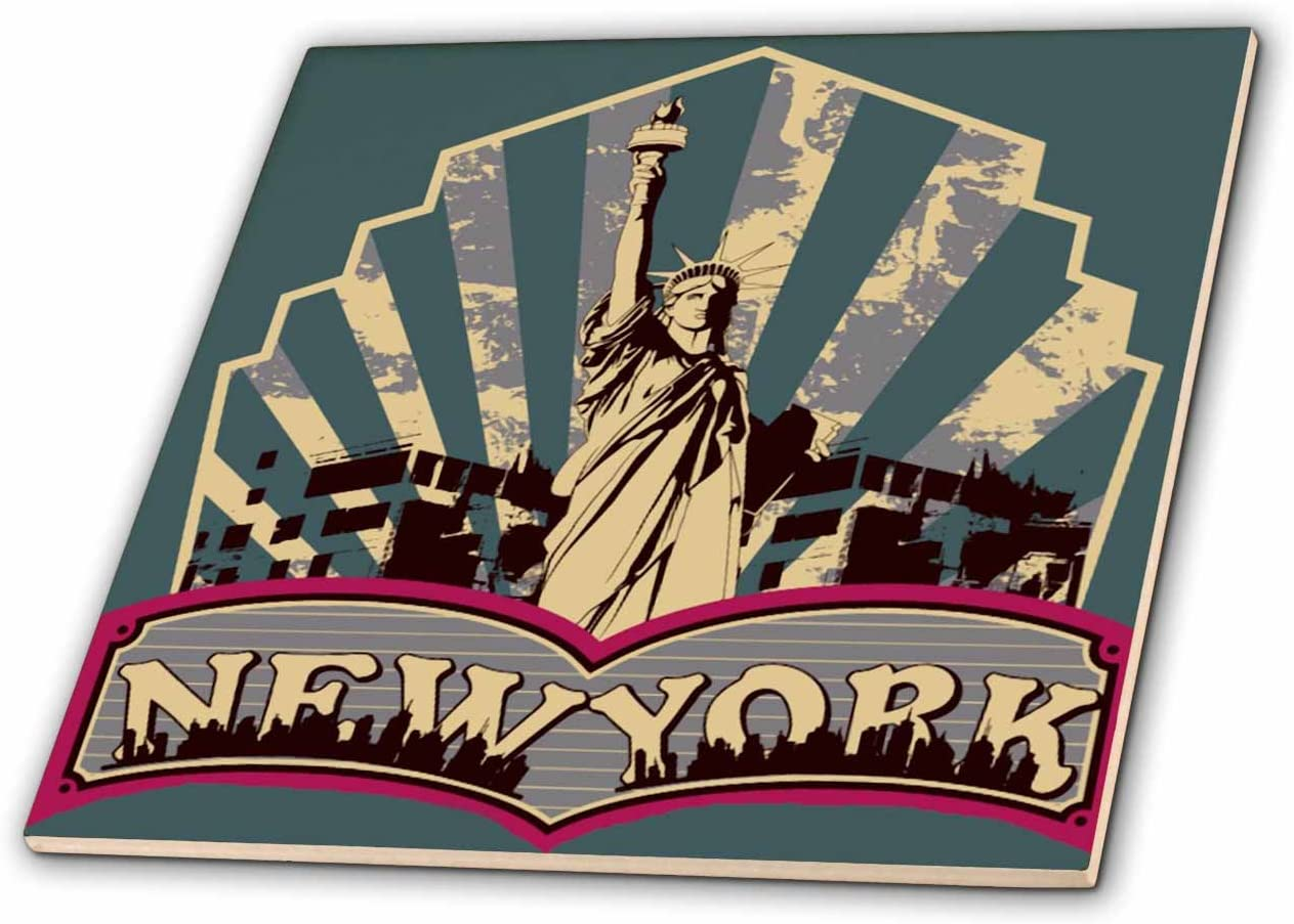 4-Inch 3dRose ct/_16508/_1 Vintage New York-Ceramic Tile