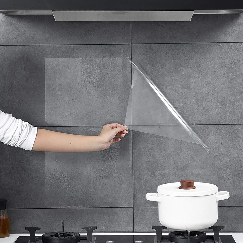 Fantasnight Papel Adhesivo para Muebles 30×300cm Vinilo Adhesivo PVC Transparente DecoracióN Cocina Vinilo Transparente Protector Muebles Forro Libros Autoadhesivo: Amazon.es: Hogar